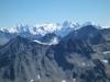 Bernina Gebiet im Hintergrund