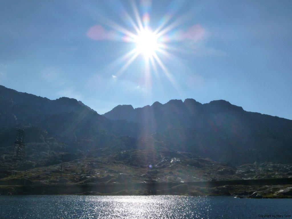Sonne am Pass